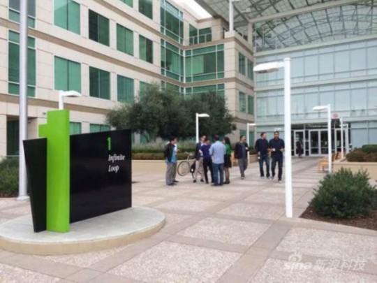 马云在苹果总部接受外媒采访