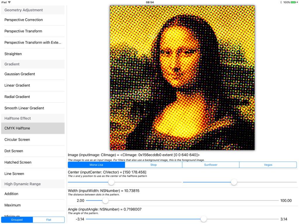 CoreImage下强大的图片滤镜类库演示应用Filterpedia