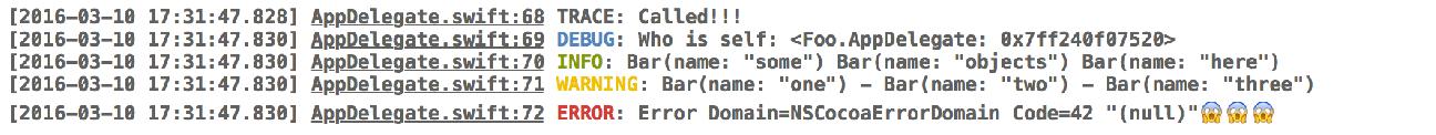 Swift可扩展的日志框架Log