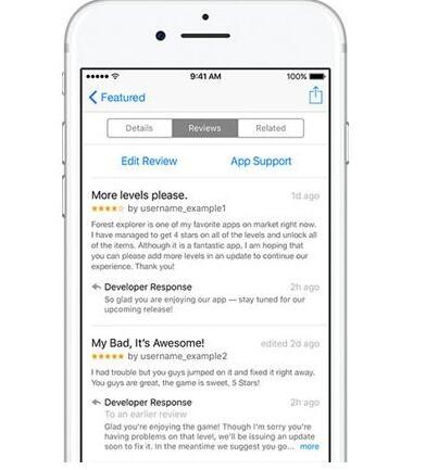利好消息:苹果正式允许开发者回复AppStore用户评论